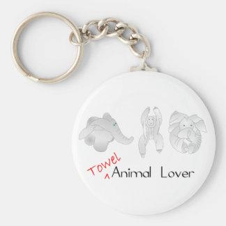Towel Animal Lover Key Ring
