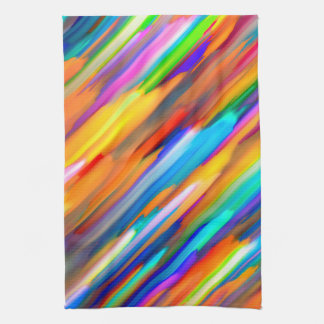 Towel Colorful digital art splashing G391