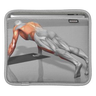Towel Fly Exercise 4 iPad Sleeve
