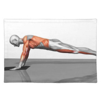 Towel Fly Exercise Placemat