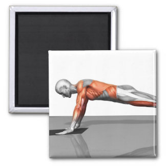 Towel Fly Exercise Square Magnet