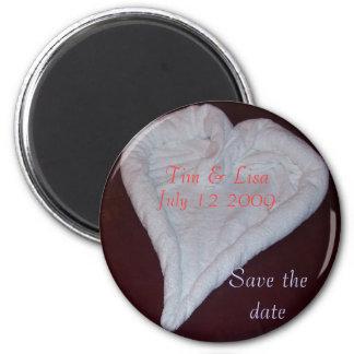 Towel Heart Magnet