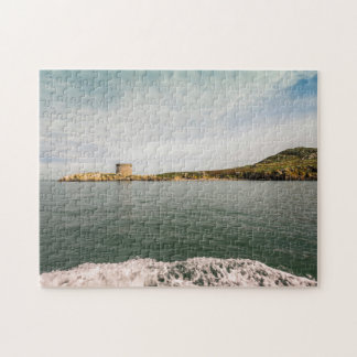 Tower and green Irish cliffs Jigsaw Puzzle