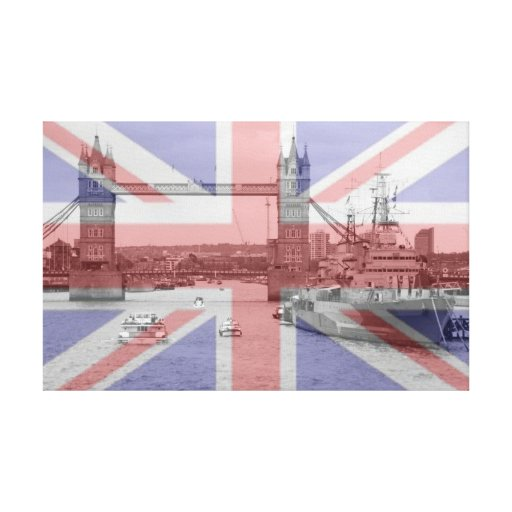 Tower Bridge 2012 HMS Belfast Stretched Canvas Prints