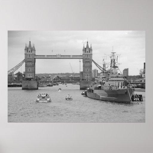 Tower Bridge 2012 HMS Belfast Poster
