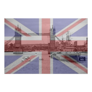 Tower Bridge 2012 HMS Belfast Print