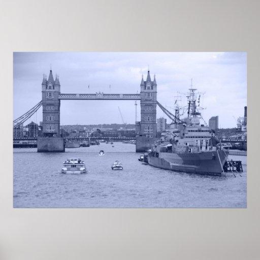 Tower Bridge 2012 HMS Belfast Posters