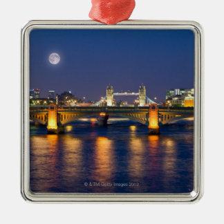 Tower Bridge 2 Silver-Colored Square Decoration