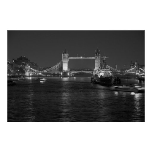Tower Bridge and HMS Belfast Posters