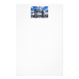 Tower Bridge and passing ship Stationery Paper