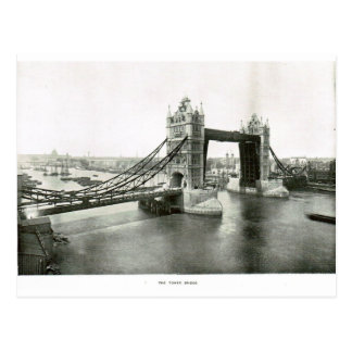 Tower Bridge and River Thames 1900 Postcard