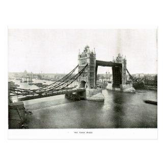 Tower Bridge and River Thames 1900 Postcard