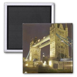 Tower Bridge and River Thames at dusk, London, Square Magnet