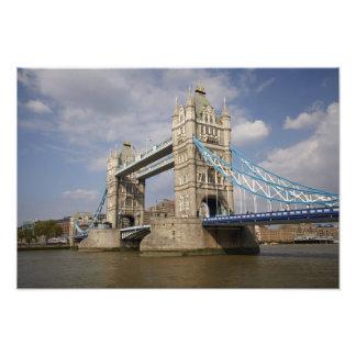 Tower Bridge and River Thames, London, Photo Art