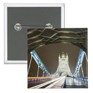 Tower Bridge and Thames River at Dusk 15 Cm Square Badge