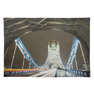 Tower Bridge and Thames River at Dusk Placemat