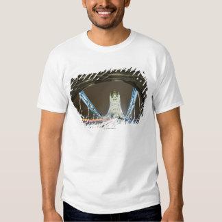 Tower Bridge and Thames River at Dusk T Shirts