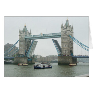 Tower Bridge and the river pageant Card