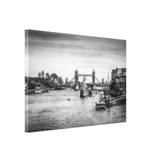 Tower Bridge and the River Thames London Stretched Canvas Prints