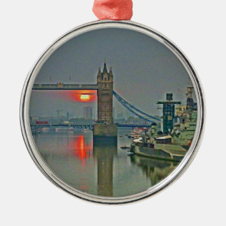 Tower Bridge at Dawn Christmas Ornament