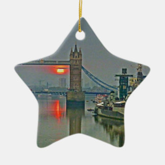 Tower Bridge at Dawn Christmas Ornament