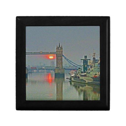 Tower Bridge at Dawn Keepsake Box