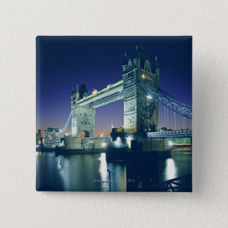 Tower Bridge at Dusk 15 Cm Square Badge