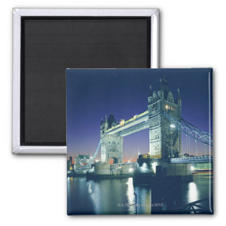 Tower Bridge at Dusk Square Magnet
