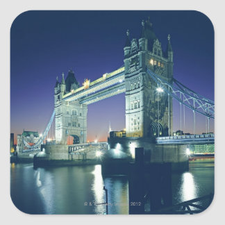 Tower Bridge at Dusk Square Sticker
