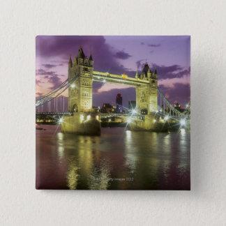 Tower Bridge at Night 15 Cm Square Badge