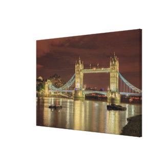 Tower Bridge at night, London Canvas Print