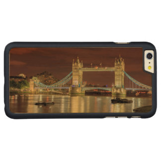 Tower Bridge at night, London Carved® Maple iPhone 6 Plus Case