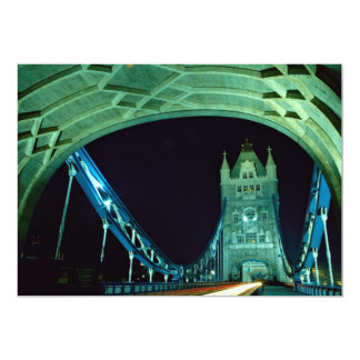 Tower Bridge at night, London, England Card