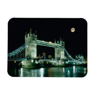 Tower Bridge at Night, London, England Rectangular Photo Magnet