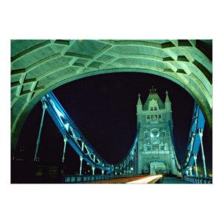 Tower Bridge at night London England Custom Invitations