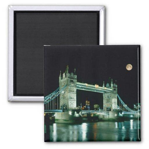 Tower Bridge at Night, London, England Magnets