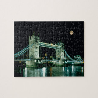 Tower Bridge at Night, London, England Puzzle
