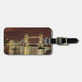 Tower Bridge at night, London Luggage Tag