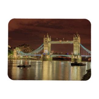 Tower Bridge at night, London Rectangular Photo Magnet