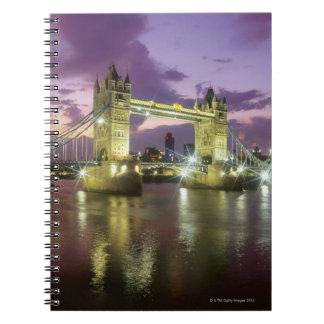 Tower Bridge at Night Spiral Notebook