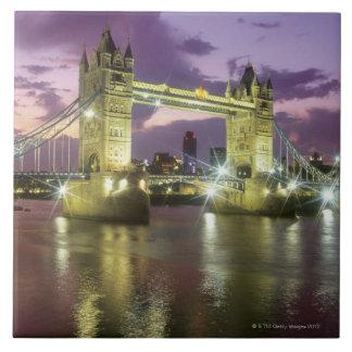 Tower Bridge at Night Tile