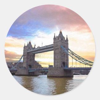 Tower Bridge Classic Round Sticker