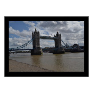 Tower Bridge England Water Contemporary Modern Poster