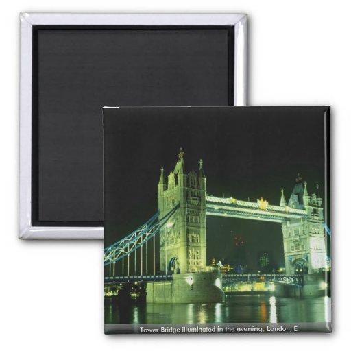 Tower Bridge illuminated in the evening, London, E Magnet