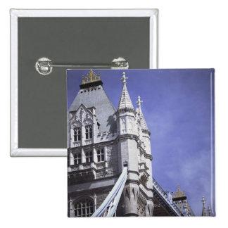 Tower Bridge in London, England 15 Cm Square Badge