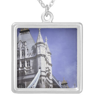 Tower Bridge in London, England Silver Plated Necklace