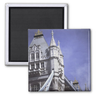 Tower Bridge in London, England Square Magnet