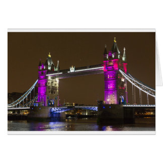 Tower Bridge in Princess pink Card