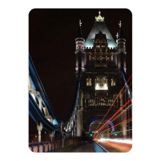Tower Bridge Lights London United Kingdom Europe 11 Cm X 16 Cm Invitation Card