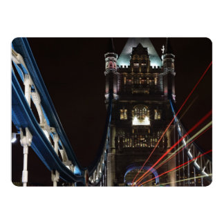 Tower Bridge Lights London United Kingdom Europe 17 Cm X 22 Cm Invitation Card